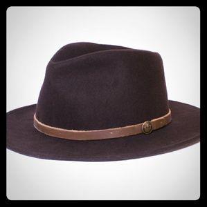 XL GOORIN BROS WOOL FEDORA NAVY HAT